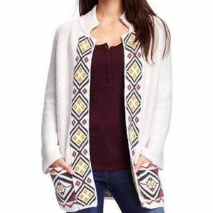 3/$25 OLD NAVY tribal cardigan with pockets small